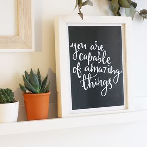 Handlettered Quote Print