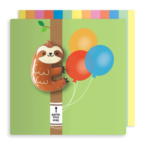 Jelly Magnet Sloth Birthday Card