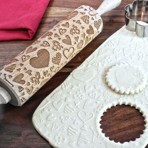 Hearts Embossing Rolling Pin - engagement gifts