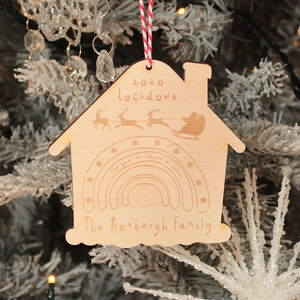 Personalised Lockdown 2020 Wooden Christmas Decoration