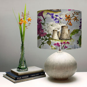 Flowers And Cooling Towers Lampshade - lampshades