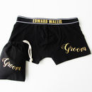 Personalised Groom's Wedding Pants, Metallic Print