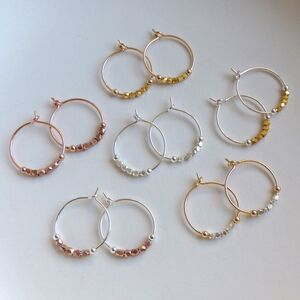 Petite Fair Trade Metallic Hoops