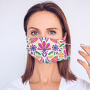 Peacock Designs Fabric Masks