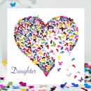 I Love My Daughter Butterfly Heart Card