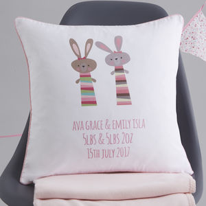 Twins Personalised Gift Cushion - personalised cushions