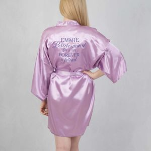 Bridesmaid For A Day Forever A Friend Personalised Robe - lingerie & nightwear