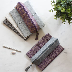 Paisley Notebook And Pencil Case Set