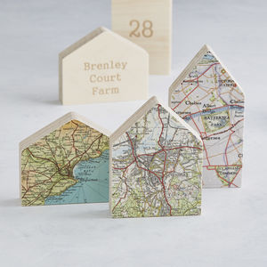 Little House Map Location Ornament New Home Gift