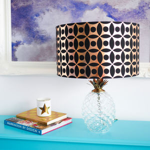 Copper Circle Pattern Drum Lampshade - lighting