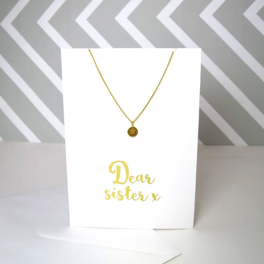 Dear Sister Card And Necklace Set