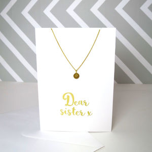 Dear Sister Card And Necklace Set - necklaces & pendants