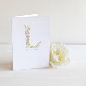 Floral Love Valentines Card