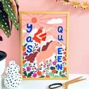 Yas Queen Positive Girl Print