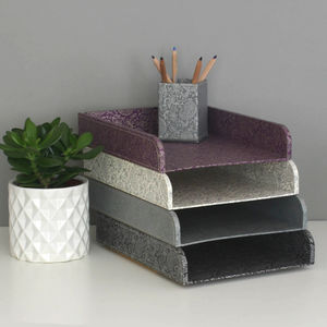 Recycled Paisley Stacking Storage Tray - winter sale