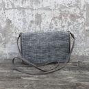 Fairtrade Cotton/Leather Clutch Bag W/Detachable Strap
