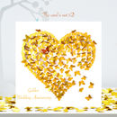 Golden Wedding Anniversary Butterfly Heart Card