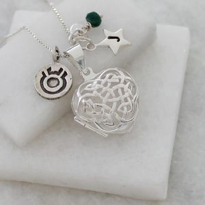 Personalised Celtic Heart Locket With Birthstone - children's accessories