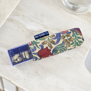 Everyday Pill Box With William Morris Golden Lily Case