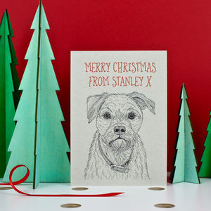 Border Terrier Christmas Card - cards