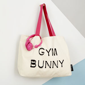 'Gym Bunny' Large Tote - more