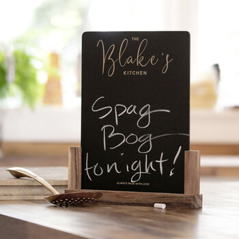 Personalised Family Kitchen Chalkboard