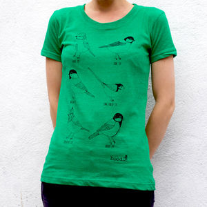 Organic Womens Garden Birds T Shirt