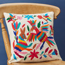 Mexican Cushion Cover Hand Embroidered