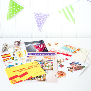 Spain Themed Activity Set With Shells
