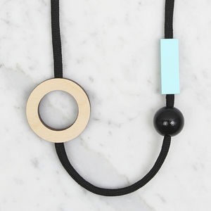 Open Circle Necklace // Plywood And Mint