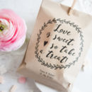 10 'Love Is Sweet' Personalised Paper Goodie Bags