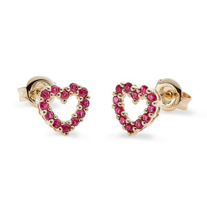 Ruby Heart Earrings* - shop by occasion