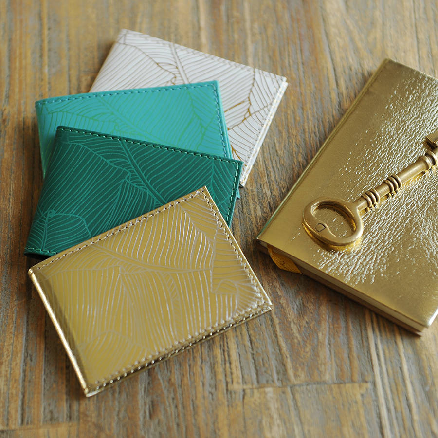 Leather Palm Print Oyster/Travel Card Holder