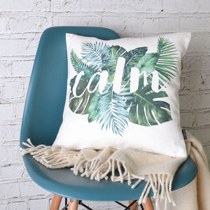 Tropical 'Calm' Cushion Cover