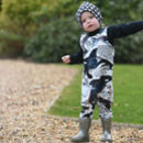 Boy's Dungarees with Cute Illustrated Orcas by Milly O