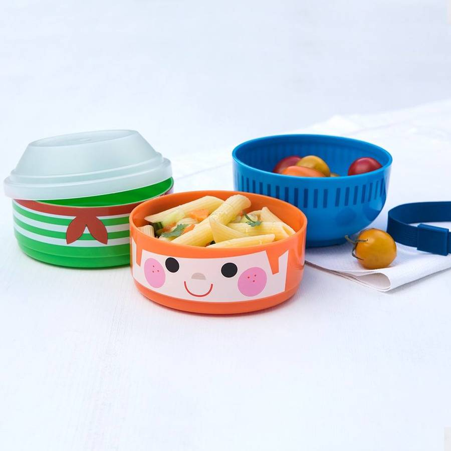 boy bento three compartment lunch box by little baby. Black Bedroom Furniture Sets. Home Design Ideas