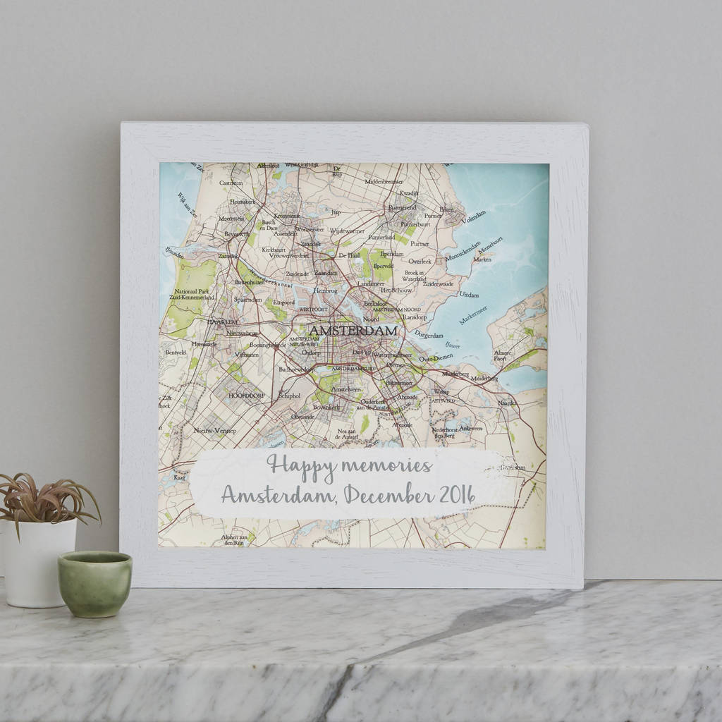 ... > BOMBUS > PERSONALISED TREASURED LOCATION MAP PRINT WEDDING GIFT