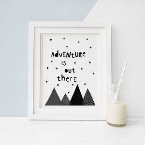 Adventure Is Out There, Kids Nursery Print - children's room