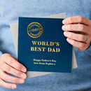 Personalised World's Best Dad Foiled Card