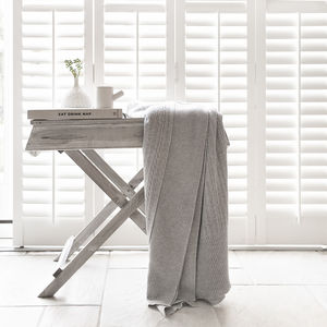 Cable Knit Cashmere And Merino Wool Blanket - home sale