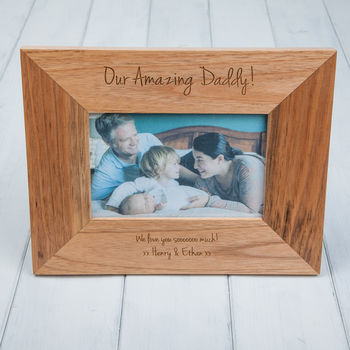 Personalised Daddy Oak Photo Frame