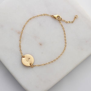 Botanical Evergreen Tree Bracelet In Gold