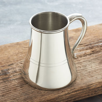 Personalised Non Spill Pewter Tankard