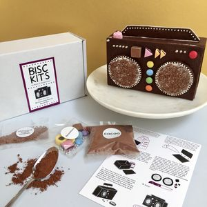 Make Your Own 3D Chocolate Biscuit Boom Box - kitchen