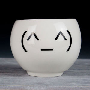 Funny Emoji Teacup - cups & saucers