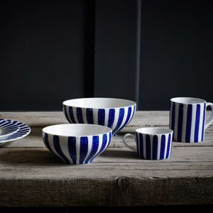Hand Painted Wide Stripe Ceramics