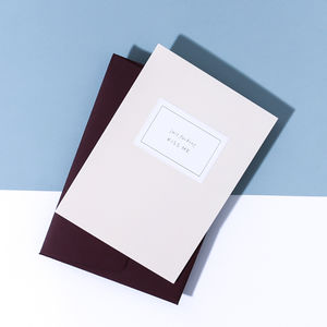 'Just Fucking Kiss Me' Card, Claret Envelope