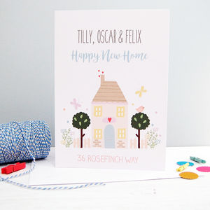 Personalised Happy New Home Card - new home cards