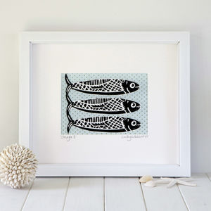 Coastal Fish Print - posters & prints
