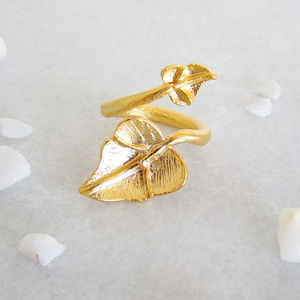 Gold Leaf Statement Ring